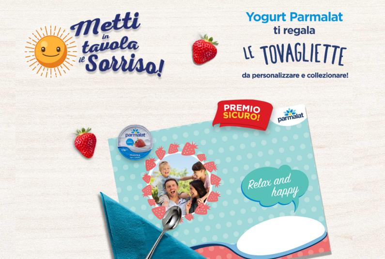 Parmalat tovagliette gratis